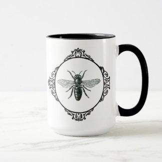 Abeille vintage de tasse de café…
