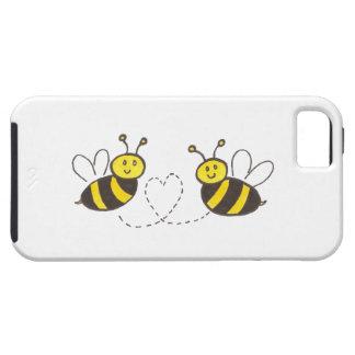 Abeilles de miel avec le coeur étuis iPhone 5