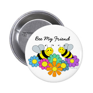 Abeilles et abeille de fleurs mon ami pin's avec agrafe