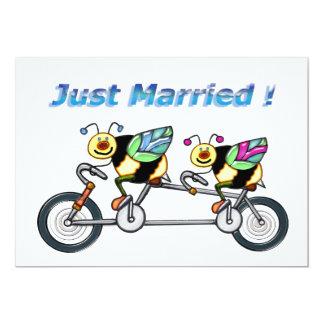 Abeilles sur un vélo tandem marié bristols personnalisés