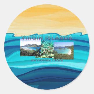 ABH Îles Vierges Sticker Rond