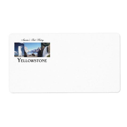 ABH Yellowstone Étiquette D'expédition