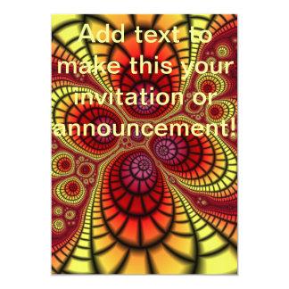 Abîme interne abstrait carton d'invitation  12,7 cm x 17,78 cm