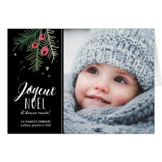 Aboie les fards à joues | Joyeux Noël Carte De Vœux