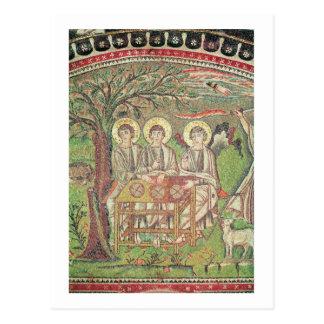 Abraham avec les anges (mosaïque) carte postale