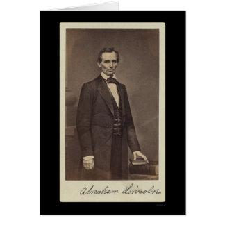 Abraham Lincoln a signé la carte 1860