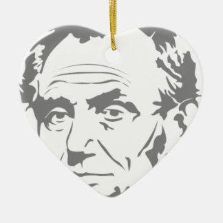 Abraham Lincoln Ornement Cœur En Céramique