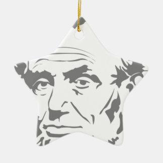 Abraham Lincoln Ornement Étoile En Céramique