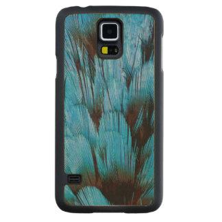 Abrégé sur à capuchon bleu plume de Pita Coque Slim Galaxy S5 En Érable