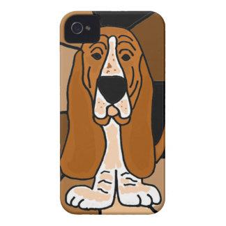 Abrégé sur adorable art de chien de Basset Hound Coques iPhone 4