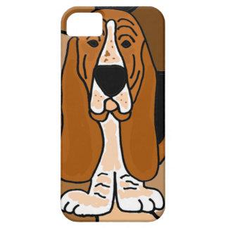 Abrégé sur adorable art de chien de Basset Hound Étui iPhone 5