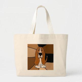 Abrégé sur adorable art de chien de Basset Hound Grand Sac