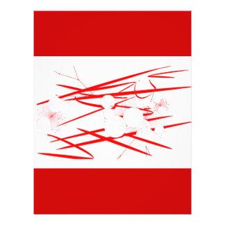 abrégé sur aléatoire art numérique rouge oriental  prospectus customisé