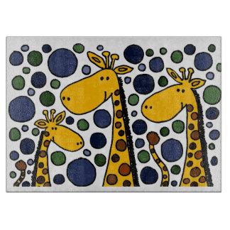 Abrégé sur art de famille de girafe planche à trancher
