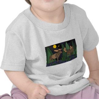 Abrégé sur art d'orignaux t-shirts
