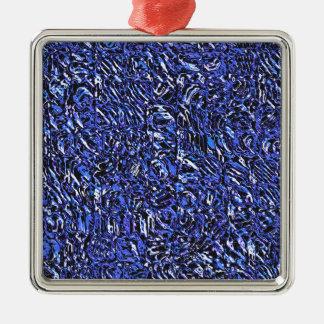 Abrégé sur bleu en verre ornement carré argenté