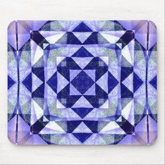 Abrégé sur bleu Mousepads art numérique d'édredon Tapis De Souris