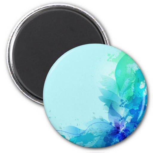Abrégé sur bleu turquoise aquarelle aimants