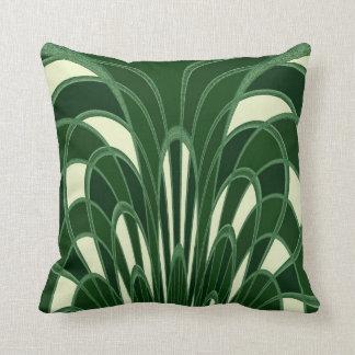 Abrégé sur champignon - art déco - vert coussin décoratif