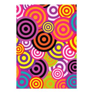 Abrégé sur coloré à la mode mignon motif de bristol personnalisé