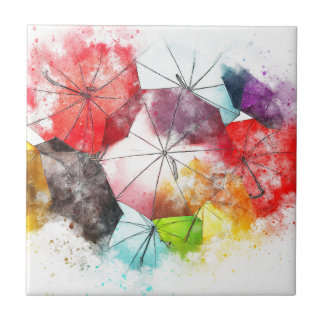 Abrégé sur coloré parapluies petit carreau carré