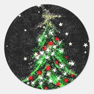 Abrégé sur de fête autocollant d'arbre de Noël