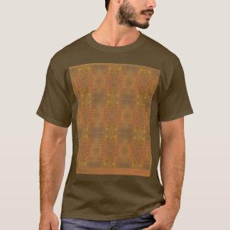 Abrégé sur d'or brume sur le T-shirt brun