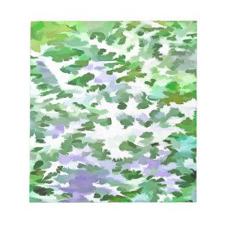 Abrégé sur feuillage dans vert et le mauve blocs notes