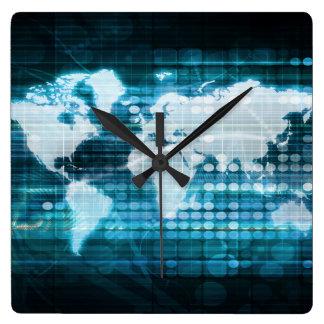 Abrégé sur global concept de technologie de horloge carrée