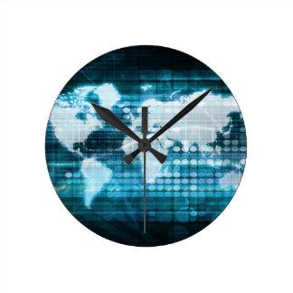 Abrégé sur global concept de technologie de horloge ronde