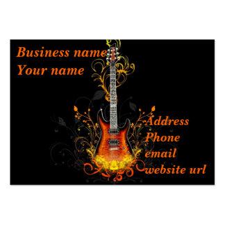 Abrégé sur guitare sur le noir carte de visite grand format