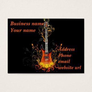 Abrégé sur guitare sur le noir cartes de visite