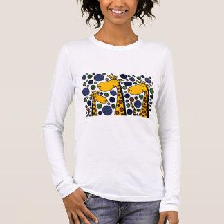 Abrégé sur mignon art de famille de girafe t-shirt à manches longues