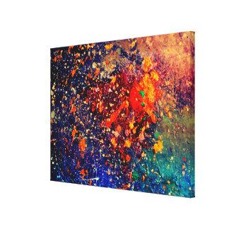 Abrégé sur moderne original d'arc-en-ciel lumineux toile