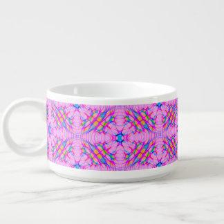 Abrégé sur motif de kaléidoscope de rose en pastel bol pour chili