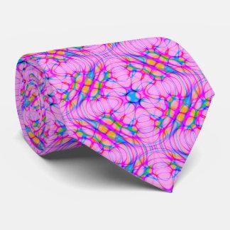 Abrégé sur motif de kaléidoscope de rose en pastel cravates