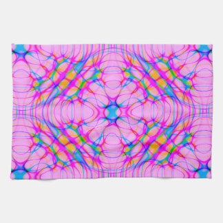 Abrégé sur motif de kaléidoscope de rose en pastel linge de cuisine