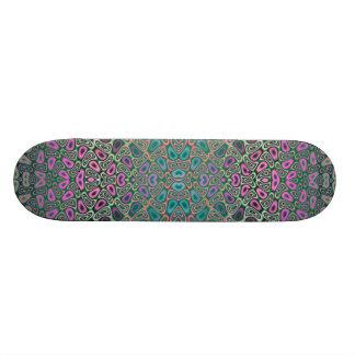 Abrégé sur multicolore fractale de papillon skateboard 20,6 cm