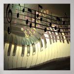 Abrégé sur musique de piano affiches