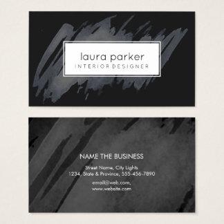 Abrégé sur noir éclaboussure d'aquarelle moderne cartes de visite