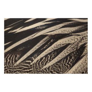 Abrégé sur noir et blanc plume impression sur bois