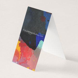 Abrégé sur plié par art cartes de visite peint