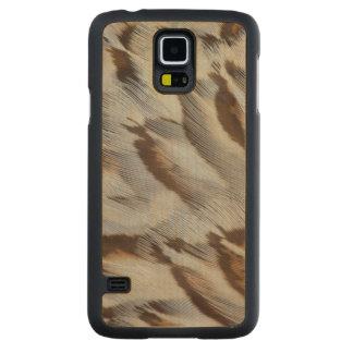 Abrégé sur plume de Brown Coque Slim Galaxy S5 En Érable