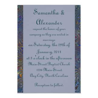 Abrégé sur psychédélique chaos - mariage carton d'invitation  12,7 cm x 17,78 cm