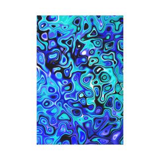 Abrégé sur remous de bleu et de noir. 555 toile