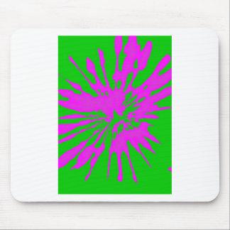 Abrégé sur rose de vert de motif d éclaboussure tapis de souris
