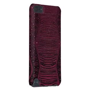 Abrégé sur rose foncé zèbre de scintillement coque iPod touch 5G