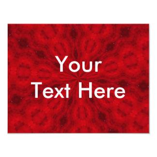 Abrégé sur rouge carton d'invitation 10,79 cm x 13,97 cm