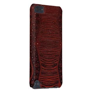 Abrégé sur rouge scintillement de zèbre coque iPod touch 5G