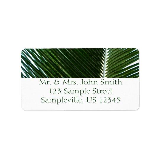 Abrégé sur tropical de recouvrement vert de étiquette d'adresse